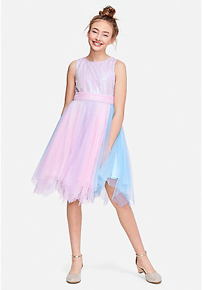 a33bf03786 Pastel Sequin Tulle Dress