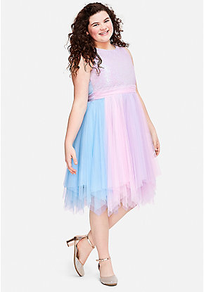 Pastel Sequin Tulle Dress