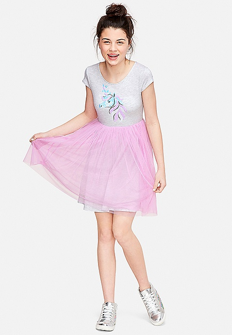 b16cf4c62 Flip Sequin Unicorn Tutu Dress