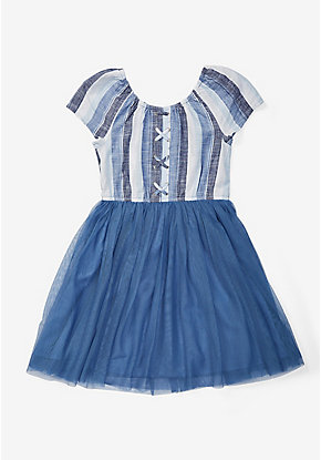 Lace Up Tutu Dress