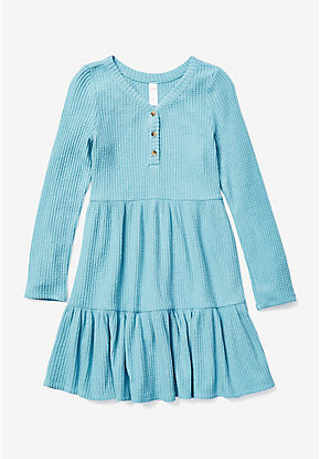 Henley Ruffle A-Line Dress