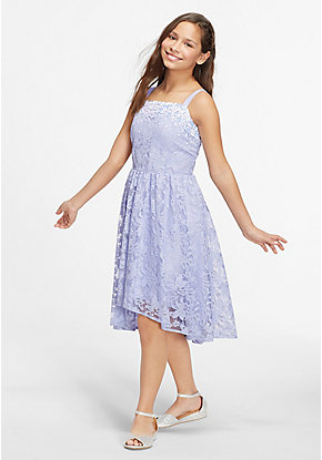 Lace Sparkle High Low Dress