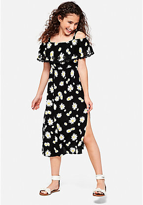 Daisy Flounce Maxi Dress