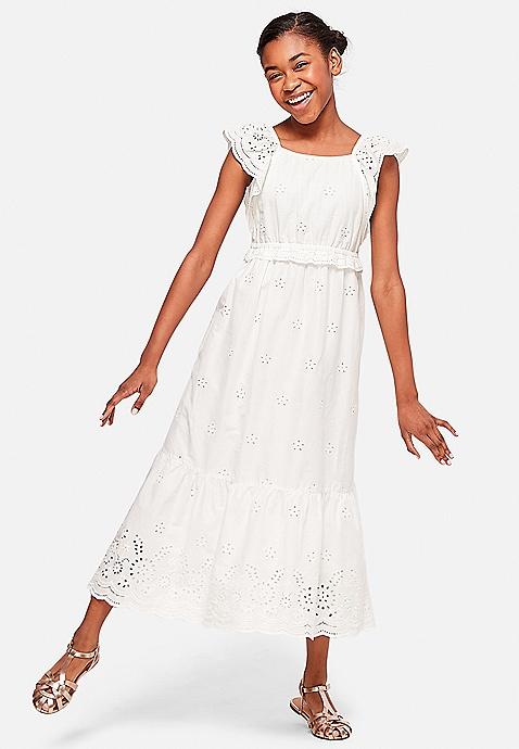 ... Eyelet Peasant Maxi Dress. Previous Next 93729b9d6