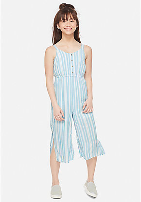Striped Girls Jumpsuit