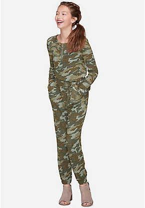 Camo Snuggly Soft Jumpsuit