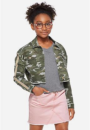 b1571ea0da191 Girls' Outerwear & Casual Jackets: Bombers, Moto, Denim & More   Justice