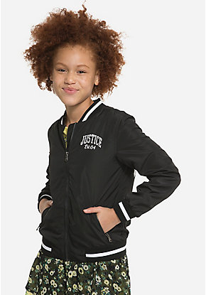 a0b8f40d877 Girls' Outerwear & Casual Jackets: Bombers, Moto, Denim & More | Justice