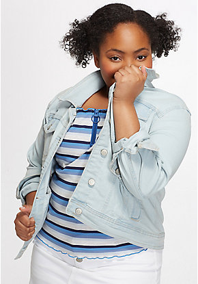 Destructed Girls Denim Jacket