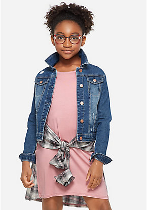 1020073ac2e92 Girls' Outerwear & Casual Jackets: Bombers, Moto, Denim & More | Justice