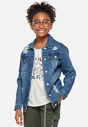 4b71dc04e1f71 Girls' Outerwear & Casual Jackets: Bombers, Moto, Denim & More | Justice