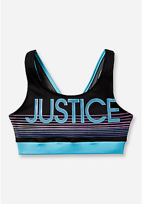 Logo Stripe Sports Bra