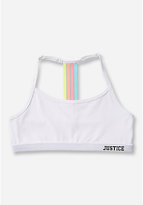 Rainbow T-Back Sports Bra