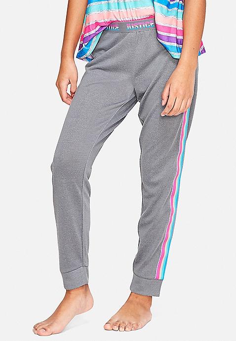 6c2dbf8761f ... Rainbow Side Stripe Pajama Joggers. Previous Next