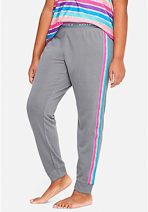Rainbow Side Stripe Pajama Joggers