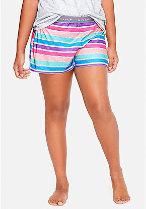 Rainbow Stripe Pajama Shorts