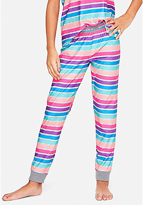 c72f4493cdd Rainbow Stripe Pajama Joggers