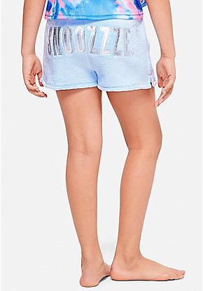 c1cca15f39e Snoozzze Fuzzy Pajama Shorts