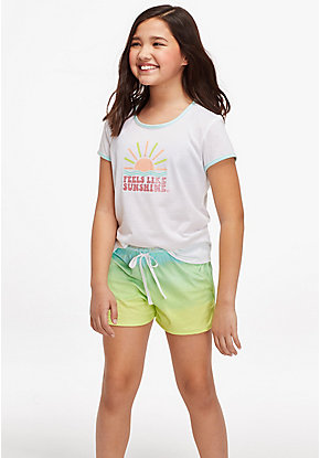 Feels Like Sunshine Ringer Pajama Tee