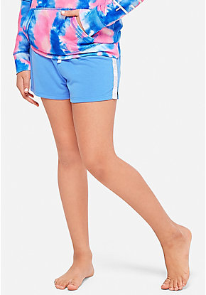 Logo Side Stripe Pajama Shorts