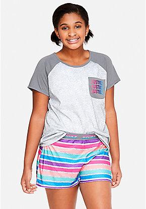 Girls' Plus Size Pajamas & PJ Sets - Sizes 10/12-24   Justice