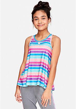 9ffa22fed2 Rainbow Stripe Pajama Tank