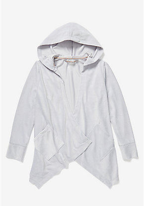 Ribbed Hooded Pajama Cardigan