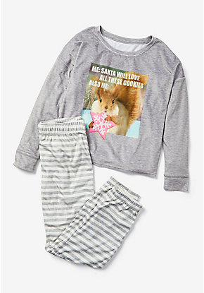 Cookie Squirrel Pajama Set