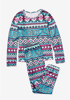 Logo Geometric Pajama Set