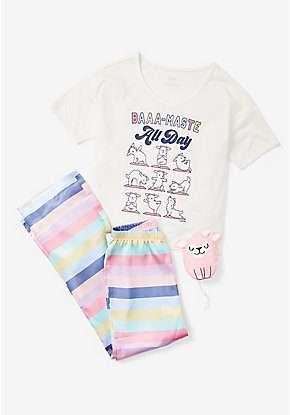 Baaa-Maste All Day Pajama Set & Bag
