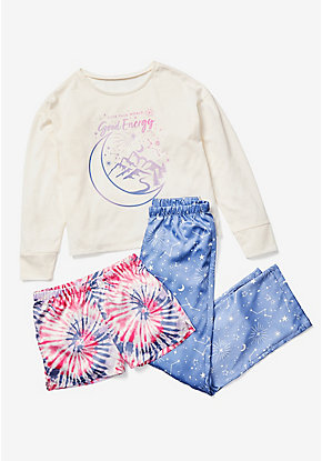 Good Energy 3-Piece Pajama Set