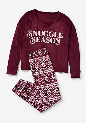 Snuggle Season Fair Isle Pajama Set