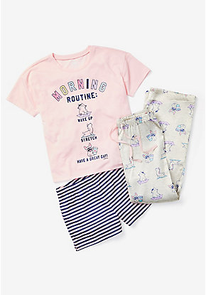 Morning Routine 3-Piece Pajama Set