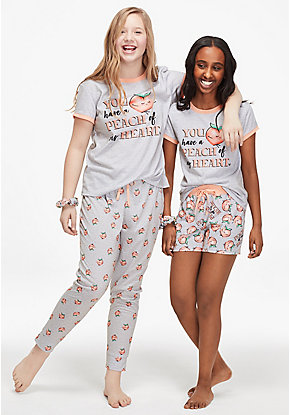 You Have a Peach of My Heart 3-Piece Pajama Set