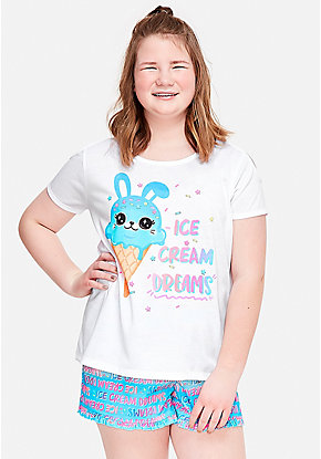 Ice Cream Dreams Short Pajama Set