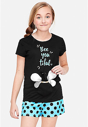 Bee You Tiful Pouch Pajama Set