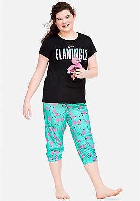 Let's Flamingle Pouch Pajama Set