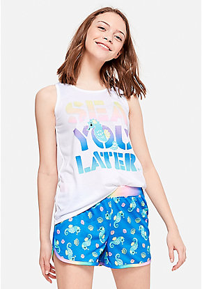 48d9ba2ad07a Sea You Later Short Pajama Set