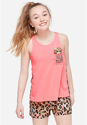 Feline Sleepy Pocket Pajama Set