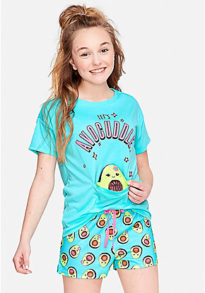 Avocuddle Pouch Pajama Set
