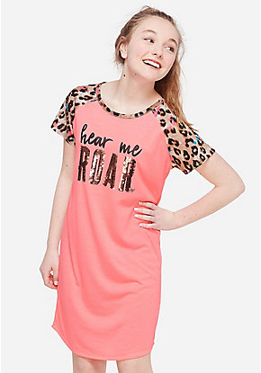 Hear Me Roar Flip Sequin Nightgown