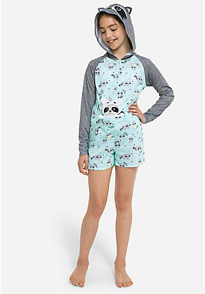Unicorn Raccoon Pouch Romper