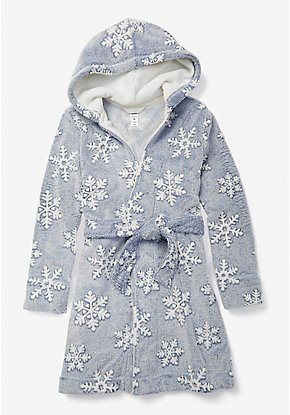 Snowflake Hooded Robe