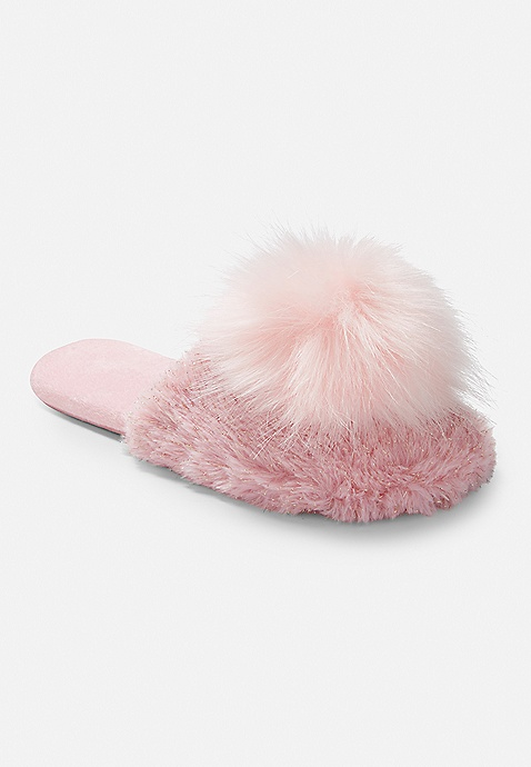 new concept best prices sale uk Pompom Slippers | Justice