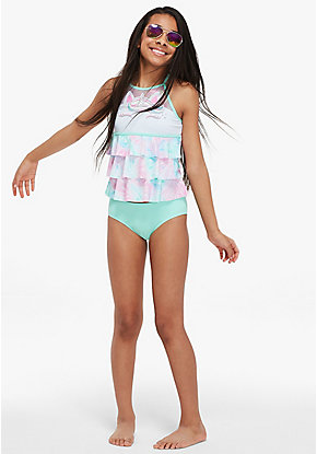Unicorn Color Changing Tiered Tankini