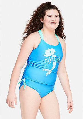 bb50e9280633a Girls  Plus Size Swimsuits - Sizes 10 12-24 Plus
