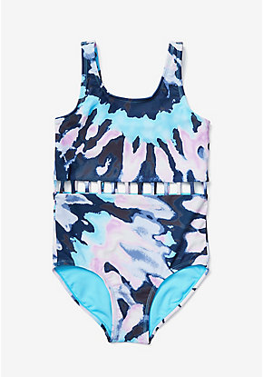 Tie Dye Cutout One Piece