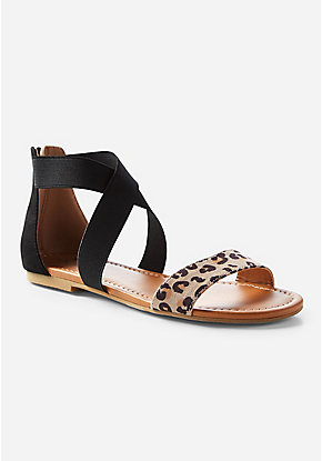Cheetah Strappy Sandal