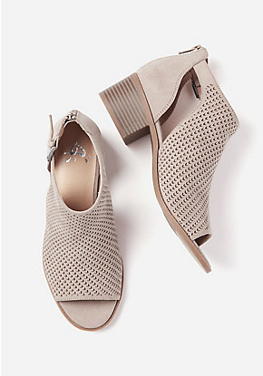 Perforated Peep Toe Sandal