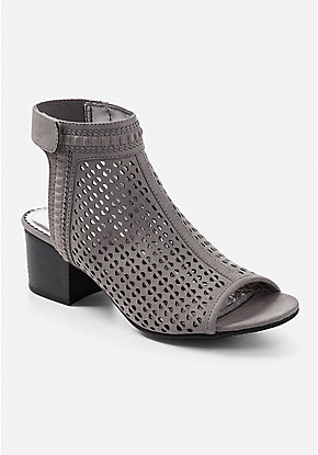 Perforated Open Toe Sandal